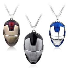 Iron Man Mask Pendant Necklace