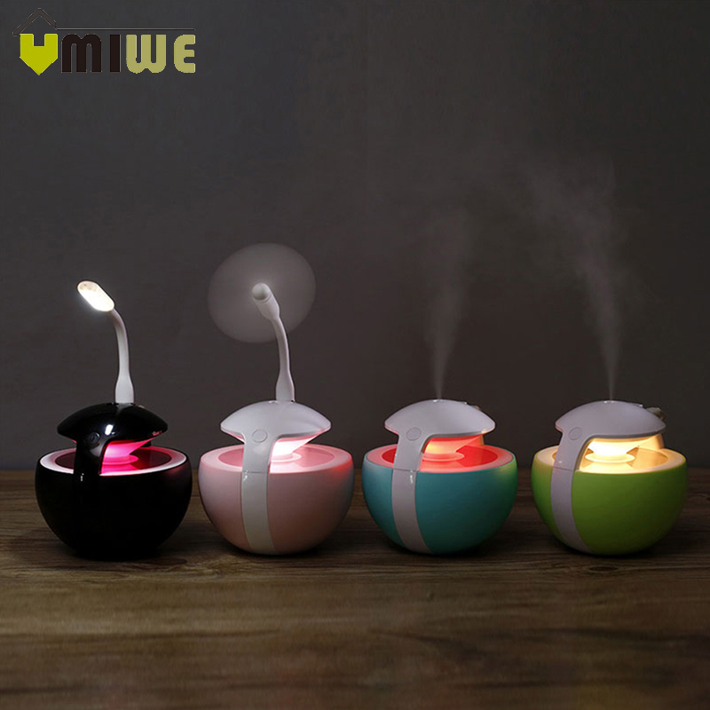 3-in-1 USB Mini Night Light Humidifier Portable Spray Humidifier Essential Oil Diffuser Air Humidifier for Home Office Room Car купить в Москве 2019