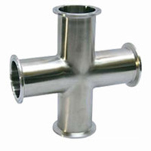 1/2 3/4 1 Stainless Steel 304 Sanitary Cross With Trip Clamp End For Pipe Fitting Homebrew