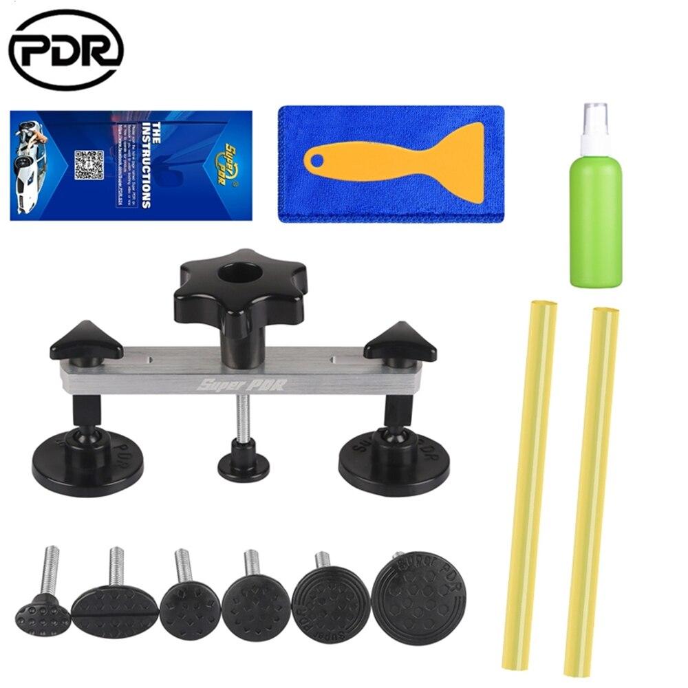 Kit d'outils de réparation d'extracteur de Dent PDR Kit d'extracteur de pont de Dent de voiture réparation 1-9cm de Dent de voiture pour outil de réparation automatique enlevant la réparation de Dents