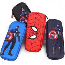 New school supplies stationery box hard pencil case high capacity pencil case Spiderman pencil case Captain
