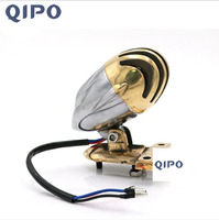 QIPO Motorcycle Tail Light Brake Stop Light License Plate Bracket Taillight Brass Cover Aluminum Taillights for Harley Honda