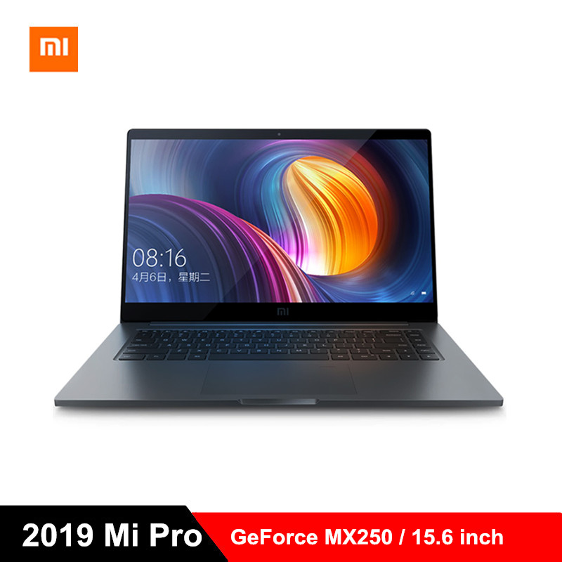 2019 Xiao mi mi Pro Laptop de 15.6 polegada Windows 10 Notebook i5-8250U/i7-8550U Quad Core 8 GB/16 GB RAM 256 GB SSD 1.0MP GeForce MX250