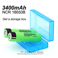 2PCS  New Buy 18650, Send Storage Box 100% New Original 18650 3.7V 3400mAh NCR18650B Lthium Battery for Panasonic