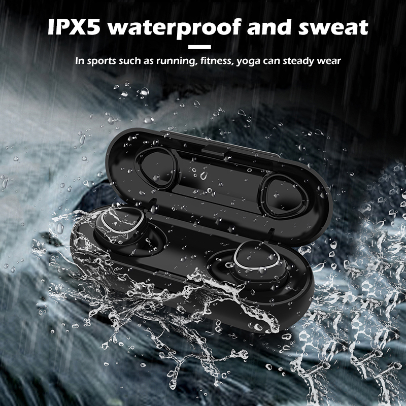 Mini Bluetooth 5 0 Earbuds With Mic Sport Headset Hands free Stereo Bass Headphone With Charging Dock Xi7 Tws Wireless Earphone in Bluetooth Earphones Headphones from Consumer Electronics