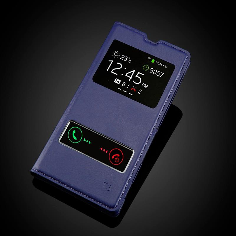 Sony Xperia T3 M50W D5103 Moda Görünüşü Pəncərə Dəsti PU - Cib telefonu aksesuarları və hissələri - Fotoqrafiya 5