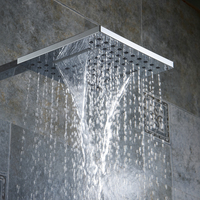 BECOLA Bathroom shower nozzle pressure Rain type shower head Waterfall type shower head Free shipping