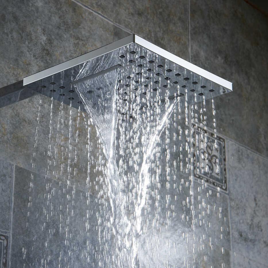 BECOLA 浴室のシャワーノズル圧力雨型のシャワーヘッド滝型のシャワーヘッド送料無料