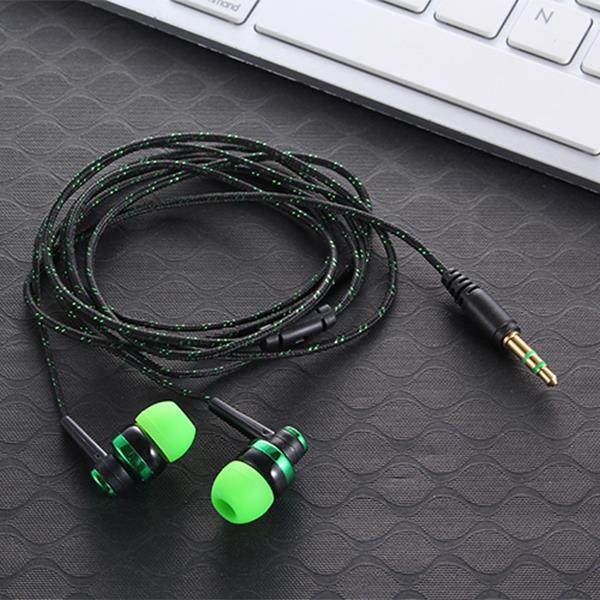 Big Bass Noise Isolating Earphone Built-in Mic Handsfree