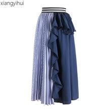 2432880abe Lunga Gonna Blu Promozione-Fai spesa di articoli in promozione Lunga ...