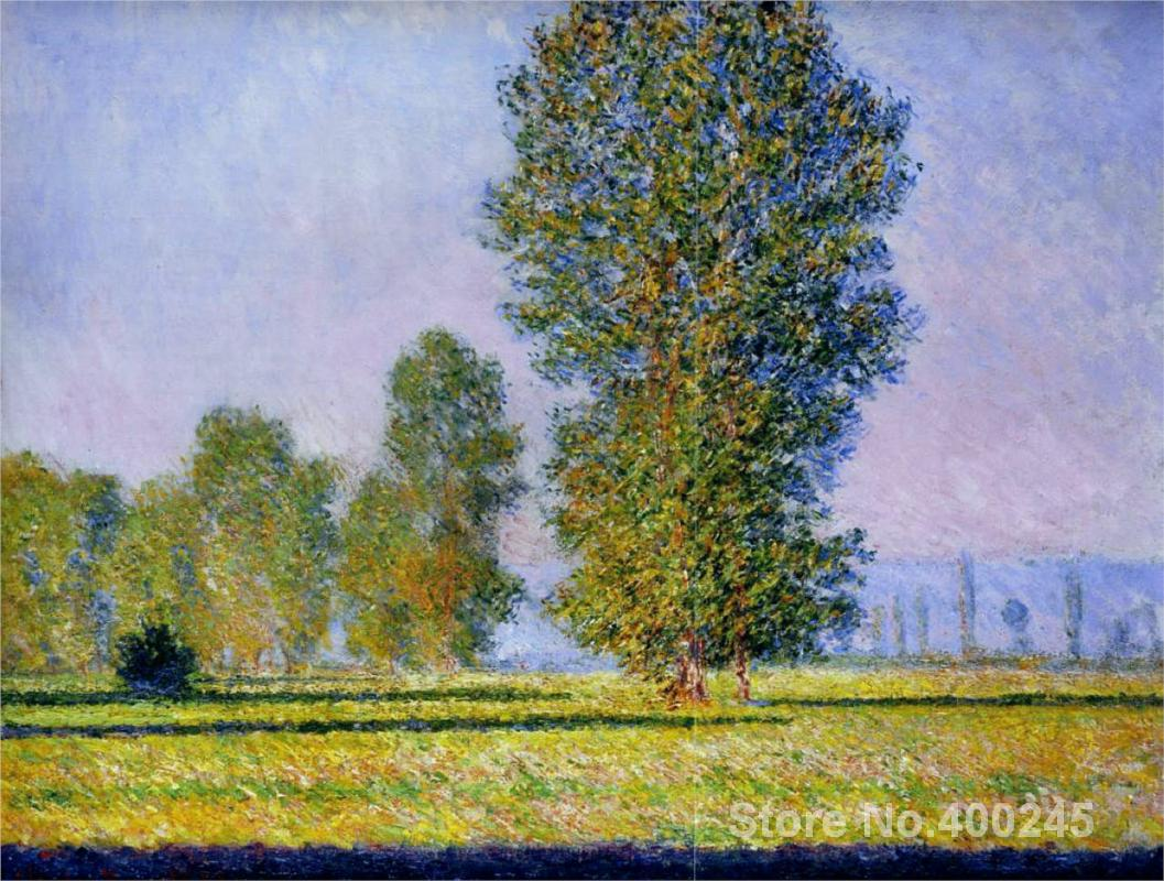 Painting by Claude Monet Meadow at Limetz Redroom decor oil on Canvas Handmade High qualityPainting by Claude Monet Meadow at Limetz Redroom decor oil on Canvas Handmade High quality