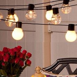 25m 100 leds Europäischen stecker im freien Wasserdichte LED Lichterketten IP54 5W E27 Retro Edison Glühlampen für straße Veranda Garten