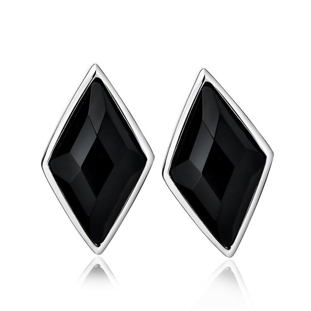 Gne0985 100% реального чистый 925 серьги стержня новый Brincos мода черный агат серьги для женщин