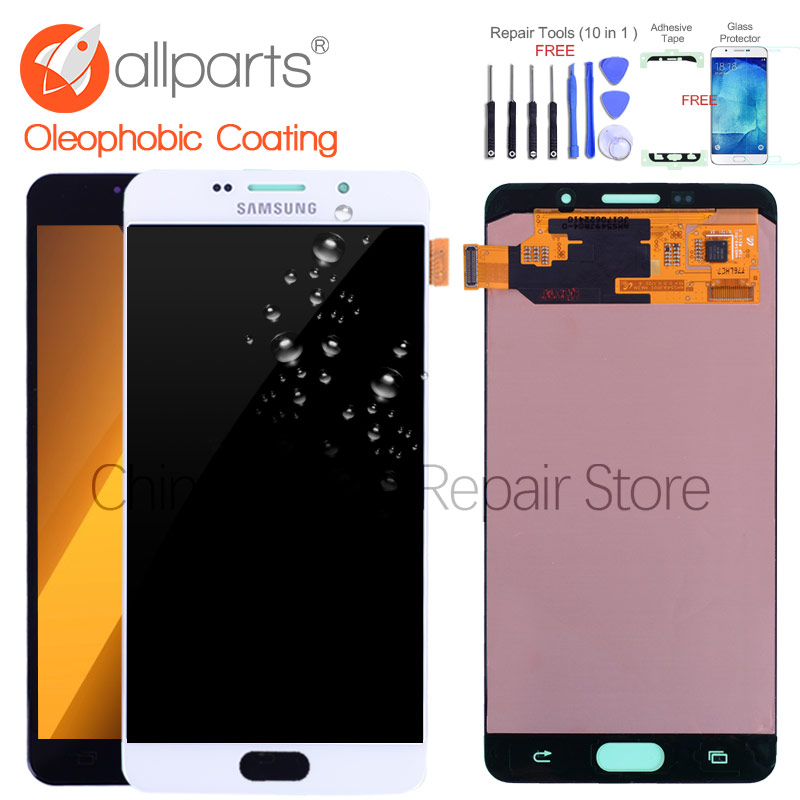 Original 5.5'' Super AMOLED LCD for SAMSUNG Galaxy A7 2016 LCD Display A7100 A710F A710 LCD Touch Screen Digitizer Replacement