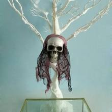 Terror Artificial Foam Skull Halloween Bride Clothes Decor Bone Head Hanging Home Decorations Festival Party Supplies