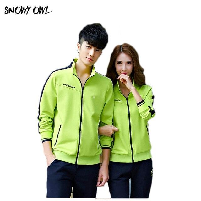 Cotton Sport Suit Pants Jackets Women Mens Sports Suits