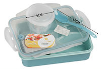 New 4 Compartments Microwave Lunch Box For Kids Thermos For Food With Containers For Adults Practical Lunchbox Lady Bento Box yooyee kotak makan