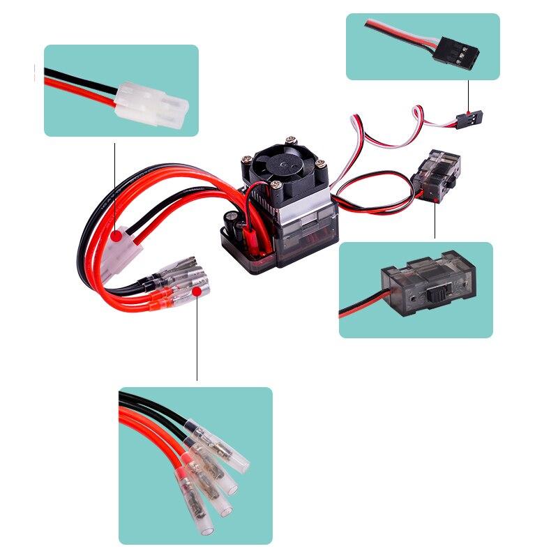 5 pcs/lot 7.2 16 V haute tension ESC 320A brossé ventilateur de contrôleur de vitesse pour RC voiture camion bateau-in Pièces et accessoires from Jeux et loisirs    3
