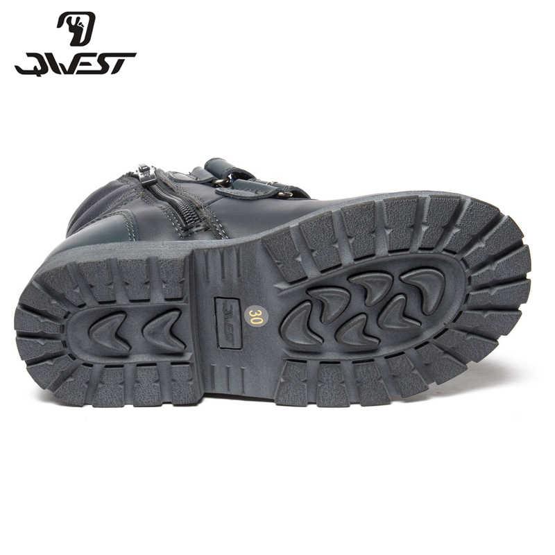 QWEST (от Фламинго); сезон осень-зима; теплые ботинки; Высококачественная Нескользящая Детская Обувь На Шнуровке Для мальчиков; Бесплатная доставка; 82B-XY-1015
