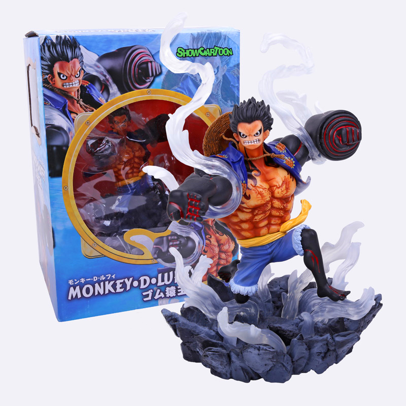 Anime One Piece POP Gear Fourth Monkey D Luffy PVC Figure Collectible Model Toy 26cm RETAIL BOX WU701 anime one piece portrait of pirates pop monkey d luffy pvc figure collectible model toy 23cm