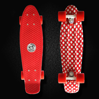 Fish board Professional Mini skateboard single long board children become warped road skate board scooter 4 wheel skates