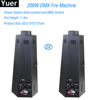 High Quality 2Pcs/Lot 200W DMX Fire Machine Stage Effect Equipment DMX or Manual Control For Disco DJ Bar Stage Lighting Effect