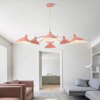 Moderno LED Macaron apparecchi di illuminazione lampadario loft Nordic casa appendere le luci camera da letto illuminazione soggiorno lampada a sospensione-in Lampadari da Luci e illuminazione su