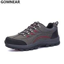 Gomnear męska top qulity buty turystyczne odkryty polowanie trekking wędrówki górskie wspinaczki sportowe buty przeciwpoślizgowe sportowe chaussure