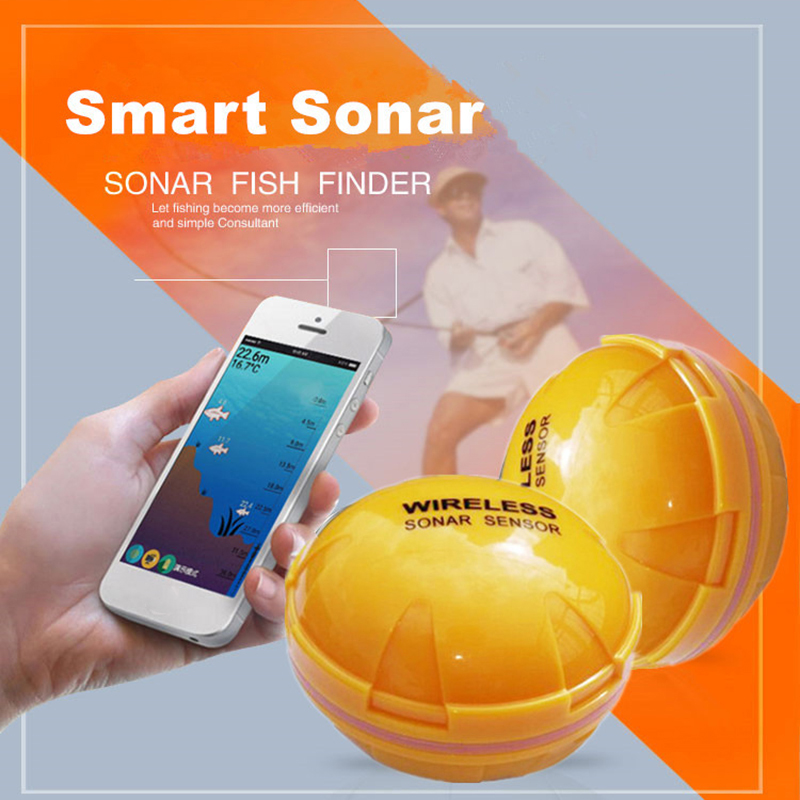 Smart phone fishfinder Wireless Sonar Fish Finder Depth Sea Lake Fish Detect iOS Android App findfish smart sonar echo sounder lucky fishing sonar wireless wifi fish finder 50m130ft sea fish detect finder for ios android wi fi fish finder ff916