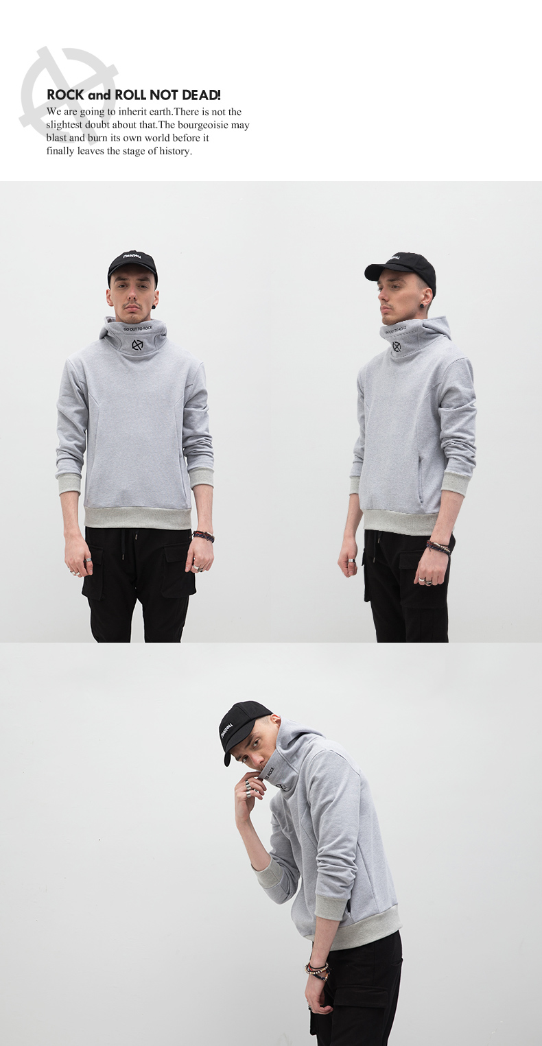ATHIEF Hoodies man pure cotton embroidery male tide brand easy casual man 7