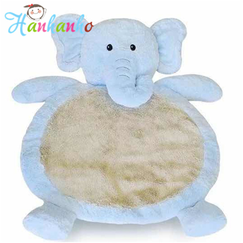 Top Quality Child Climb Pad  Elephant Plush Animal  Kids Play Mat Baby Gym Mat Children Developing Carpet Baby toy 0 5cm double sided baby crawling play mat children puzzle pad kids rug gym soft floor game carpet toy eva foam developing mats