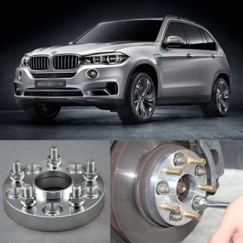 Teeze 4pcs New Billet 5 Lug 14*1.5 Studs Wheel Spacers Adapters For BMW X5 E70 2007-2013 4pcs new billet 5 lug 14 1 5 studs wheel spacers adapters for bmw x5 e70 2007 2013
