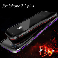 Luphie Luxury Metal Aluminum Dual Color Bumper Frame Anti Knock Phone Cases Cover For Apple IPhone