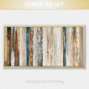 Image 1 - New Arrivals Hand painted Contemporary Wall Art Golden Abstract Oil Painting on Canvas Interior Design Art Golden Oil Painting