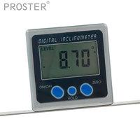 360 Degree Mini Digital Protractor Inclinometer Screen Rotation Magnetic Base Aluminium Electronic Level Box Dual Measuring Tool