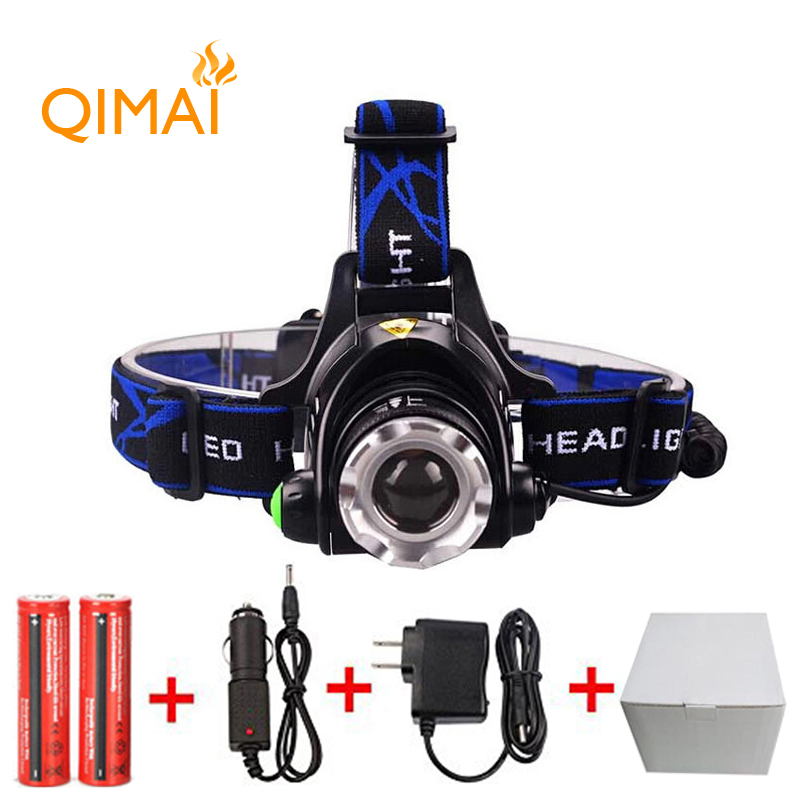 5000LM LED Headlamp CREE XM L2 3 Modes Rechargeable Headlight Head Lamp Lights For Hunting Charger