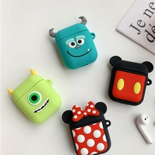 Cartoon Soft Silicone Case For Apple Airpods Shockproof Cover AirPods Earphone Cases Cute Air Pods Protector