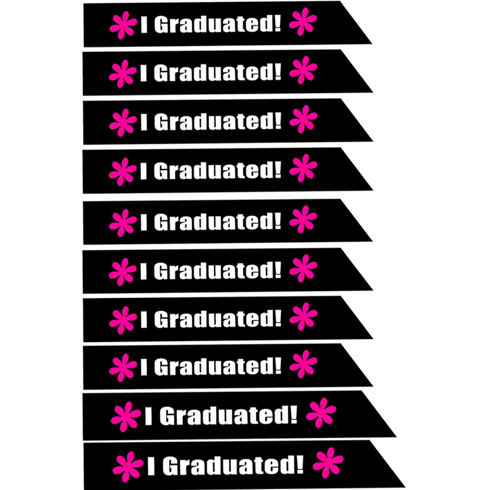 a0932acbe1 US $12.99 |Lot of 10 pcs I Graduated Graduate Sash Pink Graduation Sash  2017 Graduation Party Decoration Favor Gifts Centerpieces-in Party DIY ...