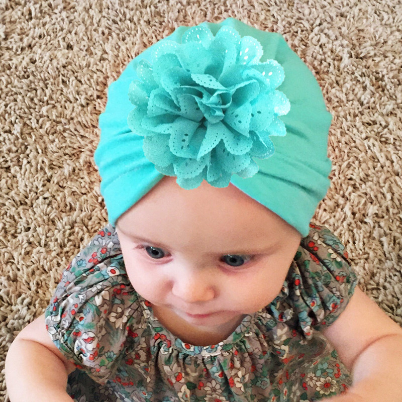 glittery sweet Fashion Baby Hat Spring Beanie Cotton Girl Caps Newborn Photography Accessories Photo Props Flower Kids Hats