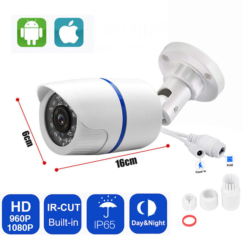 IP Bullet Camera 1080P 2MP HD Indoor Outdoor Security Bullet POE Camera Home CCTV ONVIF Surveillance Cameras Waterproof hd 1080p ti onvif 3 6mm infrare bullet ip camera build in poe