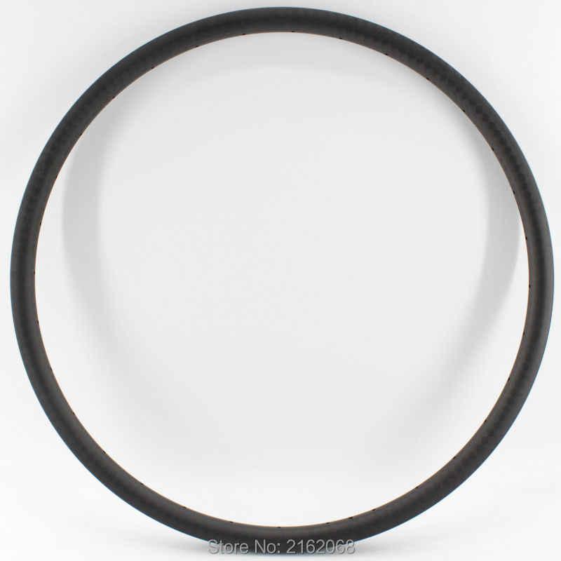 """2 pièces nouveau 27.5 """"pouces pneu jante VTT 3 K UD 12 K pleine fibre de carbone vélo roues jantes vtt 27.5er 30mm largeur livraison gratuite"""