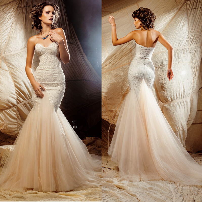 Buy vestidos de novia sexy tulle beach for Aliexpress mermaid wedding dresses