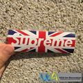 [Supreme UK Flag] Car Styling JDM Fashion Brand Logo Waterproof Graffiti Sticker Motorcycle Bike Laptop Skatboard Luggage Decals