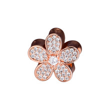 CKK ลูกปัด Charms Rose Gold Daisy Pave Silver 925 Original (China)