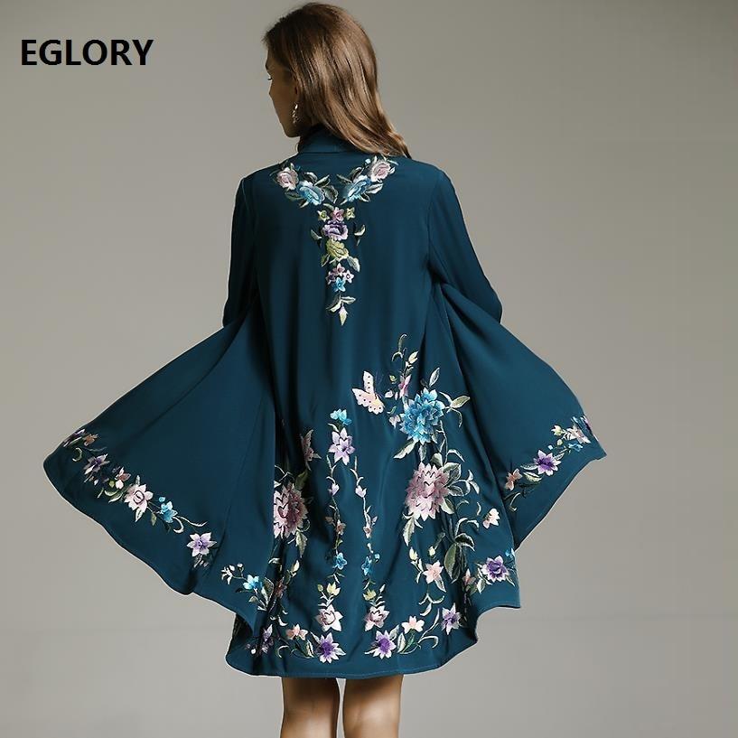 Best качество кардиганы, пальто 2019 демисезонный верхняя одежда пальто для женщин роскошный вышивка элегантные вечерние шаль Женский Тренч