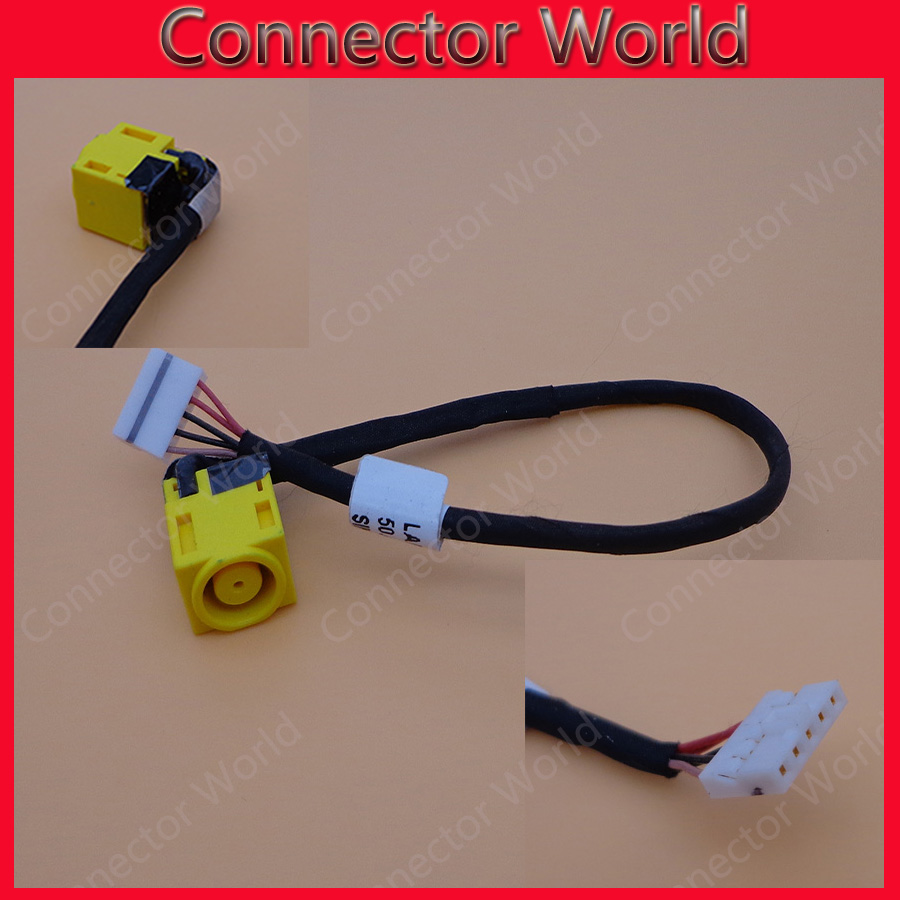 Original New DC Jack with cable For <font><b>Lenovo</b></font> Essential B590 DC laptop Power Jack female connector with cable image