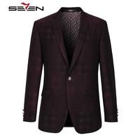 Seven7 Brand Blazer Masculin Slim Fit England Style Designs Tuxedos Men Suit Jacket Male Masculine Casual Blaser 2017 111C10020