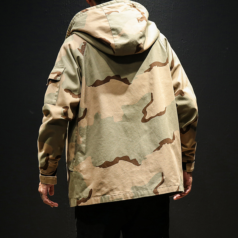 Image 4 - Men Military Camouflage Jacket Army Tactical Clothing Multicam Male Erkek Ceket Windbreakers Fashion Chaquet Safari Hoode Jacket 2019 Korean Style Clothes 5XL-in Jackets from Men's Clothing