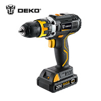 DEKO LCG18VDU 18V DC New Design Household Lithium Ion Battery Cordless Drill Driver Power Tools Electric