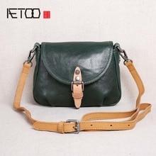AETOO 2018 new handbags leather mini bag women summer first layer leather shoulder bag Messenger bag simple samll bag цена